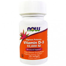 NOW Vitamin D-3 10000 120 капсул